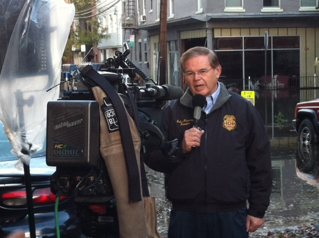 Giving recovery updates on CNN Espanol in Hoboken.  October 31, 2012